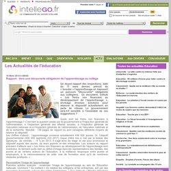 Rapport : Vers une découverte obligatoire de l'apprentissage au collège