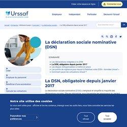 La DSN, obligatoire depuis janvier 2017
