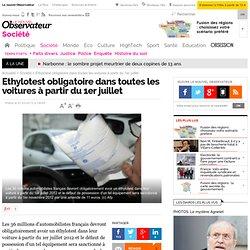 Ethylotest obligatoire dans toutes les voitures à partir du 1er juillet