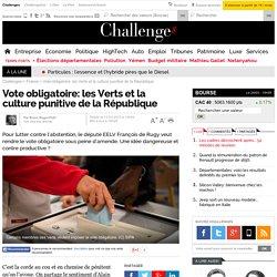 Vote obligatoire: les Verts et la culture punitive de la République