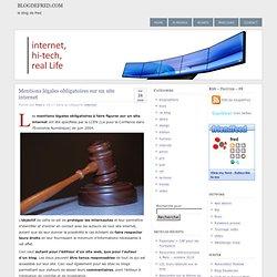 Mentions légales obligatoires sur un site internet