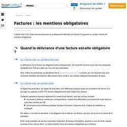 Factures : les mentions obligatoires