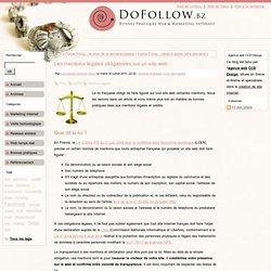 Les mentions légales obligatoires sur un site web