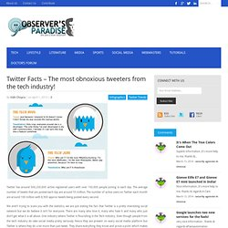 Twitter Facts - The most obnoxious tweeters from the tech industry!