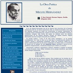 La Obra Poética de Miguel Hernández