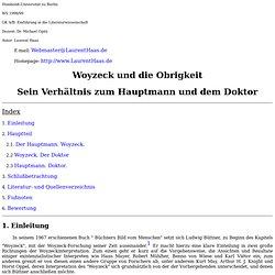 Woyzeck und die Obrigkeit - Sein Verhältnis zum Hauptmann und dem Doktor (von Georg Büchner)