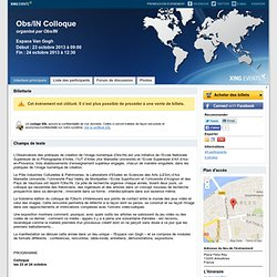 Obs/IN Colloque ArlesArles