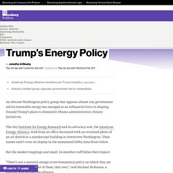 Meet the Obscure Group Influencing Trump's Energy Policy - Bloomberg