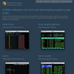 Cool, but obscure unix tools :: KKovacs