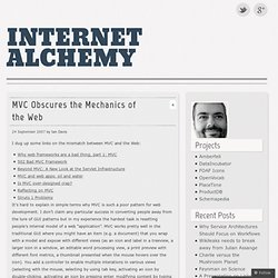 MVC Obscures the Mechanics of the Web