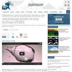 Observa una burbuja dentro de una burbuja dentro de otra burbuja (VIDEO