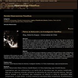 Peirce, la Abducción y la Investigación Científica