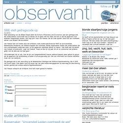 Observant: SBE stelt gedragscode op