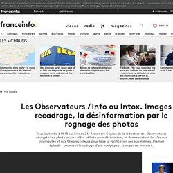Les Observateurs / Info ou Intox. Images et recadrage, la désinformation par le rognage des photos