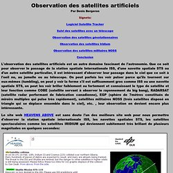 Observation des satellites artificiels