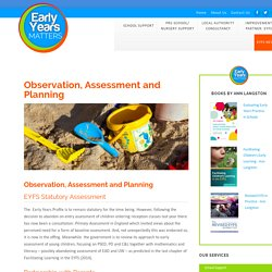 Observation, Assessment and Planning - Early Years Matters