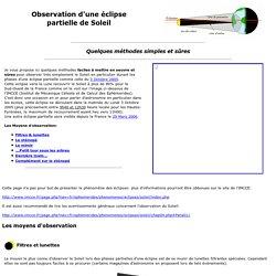 Observation d'une éclipse, observation du Soleil