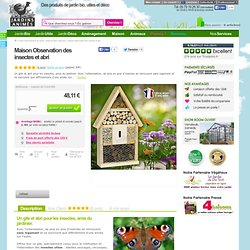 Maison Observation des insectes et abri - Maisons Abris Animaux