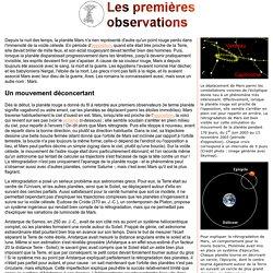 Une petite histoire de l'observation martienne : les premières observations