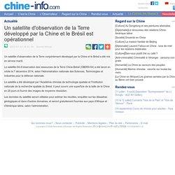 Un satellite d'observation de la Terre développé par la Chine et le Brésil est opérationnel