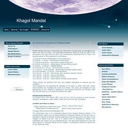 Sky Observation Programmes of Khagol Mandal