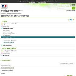 L'empreinte carbone de la demande finale intérieure de la France [L'essentiel sur…, Énergies et climat, L'empreinte carbone]:Observation et statistiques