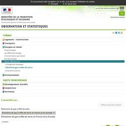 Les émissions de gaz à effet de serre par secteur en France [L'essentiel sur…, Énergies et climat, Émissions de gaz à effet de serre en France et en Europe]:Observation et statistiques