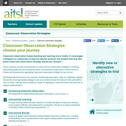 Classroom Observation Strategies
