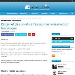 L'internet des objets à l'assaut de l'observation touristique