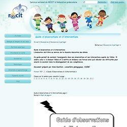 ***Guide d'observations et d'interventions