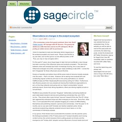 Observations on changes in the analyst ecosystem « SageCircle Bl