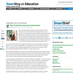Effective classroom observations SmartBlogs