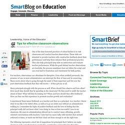 Effective classroom observations SmartBlogs