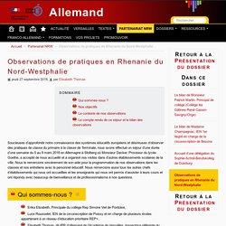 Observations de pratiques en Rhenanie du Nord-Westphalie