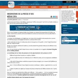 Observatoire de la Presse et des Médias 2016 – Actualités générales – Toutes les actualités – Actualités – ACPM