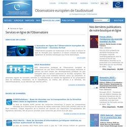 Services en ligne - Observatoire européen de l'audiovisuel