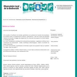 Observatoire Local de la Biodiversité : Observatoire des Amphibiens en Massif Central - Union nationale des CPIE