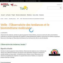 Cluster TWEED : Veille : l'Observatoire des tendances et le biomimétisme moléculaire