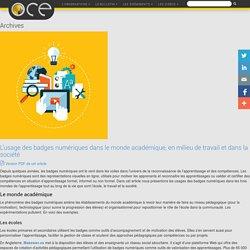Badges numériques Archives - OCE - L'Observatoire compétences-emplois
