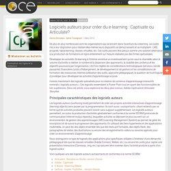 Logiciels auteurs pour créer du e-learning : Captivate ou Articulate? - OCE - L'Observatoire compétences-emplois