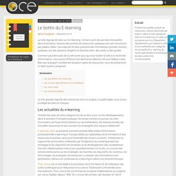 Le bottin du E-learning - OCE - L'Observatoire compétences-emplois