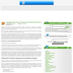 OBSERVATOIRE BRUXELLOIS DE LA CONSOMMATION DURABLE 14/03/06 Gaspillage alimentaire, un problème environnemental et éthique