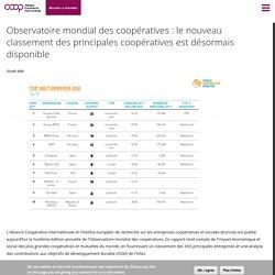 Observatoire mondial des coopératives: le nouveau classement des principales coopératives est désormais disponible