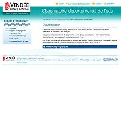 Observatoire départemental de l'eau en Vendée - Espace pédagogique - Espace documentaire pédagogique