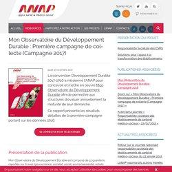 -Mon Observatoire du Développement Durable : Première campagne de collecte (Campagne 2017)