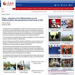 Togo:créactiond'unObservatoiresurladiscriminationdespersonnesvivantavecleVIH