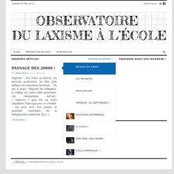 Observatoire du laxisme à l'école