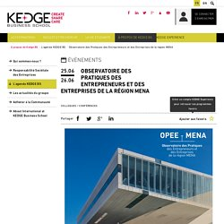 Observatoire des Pratiques des Entrepreneurs et des Entreprises de la région MENA