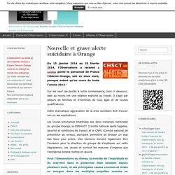 Nouvelle et grave alerte suicidaire à Orange