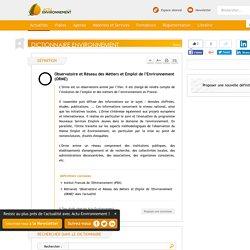 Observatoire et Réseau des Métiers et Emploi de l'Environnement (ORME) - Définition